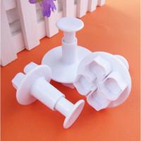 sugar flowers - Hot Selling Plum Flower Cake Decorating Plunger Cutter Fondant Mold Sugar Craft DIY Tool