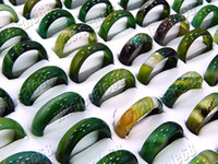 agate jewelry box - Rings Jewelry Charm GREEN smooth Agate gemstone stone Ring include box