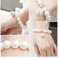 New Fashion Bohemia Style lovely Pearl Beaded Bracelet Brida...