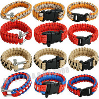stainless steel buckle - Ma55 Paracord Parachute Survival Bracelet Stainless Steel Whistle Buckle