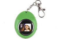 Wholesale 1 inch LCD M Egg Shaped Mini Digital Photo Picture Album Frame Keychain