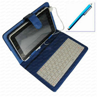 Wholesale Colorful Leather Case USB Keyboard Stylus for quot DOPO Double Power T T T711 T708 Tablet