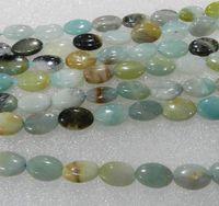 Wholesale Egg shape x12mm Brazilian Aquamarine Gemstone multicolour Loose Beads inch