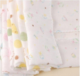 Wholesale NEW Cotton Baby Muslin Square Baby Muslin Wrap Baby Blanket D12052845