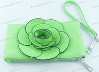 Wholesale 100pcs Tote Messenger package of dual use package woman package camellia flower shape of square new