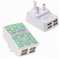 Wholesale New USB Power Adapter With USB Ports UK Plug Dual USB AC Wall Charger For Phone Ipod