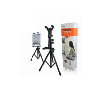 Wholesale black universal adjustable flat PC tablet PC tripod Clamp Holder with box