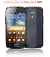 No ace post - For galaxy ace i8160 screen protector LCD film guard with retail package free post