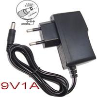 Wholesale 50PCS AC V V Converter Adapter DC V A mA Power Supply EU plug DHL