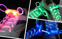 Wholesale 2011 light up LED flashing flash shining shoelace shoe shoes lace laces bootlace
