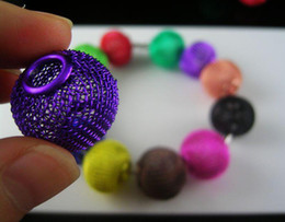 Wholesale 160pcs mm Mesh beads Spacer Bead Fit Basketball Wives earrings mixed colors
