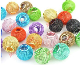 Wholesale 160pcs mm mm mixed size Mesh beads Spacer Bead Fit Basketball Wives earrings mixed colors