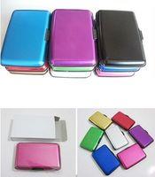 Wholesale 50pcs Aluminium Credit card wallet cases card holder bank card case aluminum wallet white box