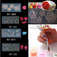 Wholesale Drop ship NEW STYLE D Acrylic Silicon Nail Art Mold DIY Decoration Tool Acrylic Mold Acrylic powder
