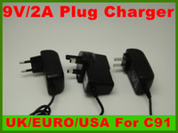 Wholesale 9V A Wall Charger Adapter fit to Zenithink C91 Android Tablet PC with V mm port