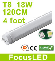 Wholesale 18W Foot Led Tubes G13 cm Fluorescent Light Pure White SMD3528 LM V V CE ROHS UL