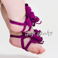 Wholesale Sample Order TOP BABY Sandals baby Barefoot Sandals Foot Flower Foot Ties girls Toddler flower Shoes