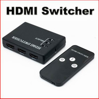Wholesale New Port HDMI Switch Switch Splitter P For DVD HDTV IR Remote control