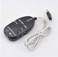Wholesale 10 Pieces Guitar Accessories USB Guitar Link Cable PC To Guitar USB Interface Audio Link Cable