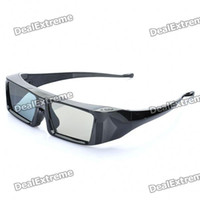 Wholesale Universal USB Rechargeable IR D Active Shutter Glasses for Projectors Black