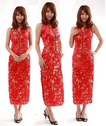 Wholesale Sexy Chinese Womens Satin Evening Dress Cheongsam wedding dress free shopping