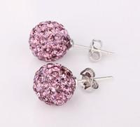Wholesale Lowest price pairs Shamballa Earrings MM Crystal Earrings Earrings