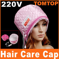 Wholesale Pink Hair Thermal Treatment Beauty Steamer SPA Cap Hair Care hat Nourishing products H8153