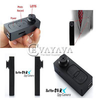 Wholesale Spy camera New x480 Mini Button Pinhole Spy Camera Hidden DVR Camcorder FPS Win7