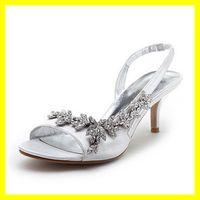 Wholesale Stylish NEW Satin Rhinestone CM Platform High Heel Summer Sandals Bridal Wedding Shoes