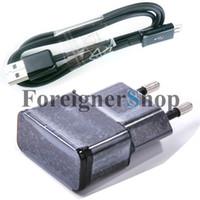 OEM Para Samsung Galaxy S2 S3 Note Cable Home Adapter de pared ETA0U80EBE Micro USB Cable de datos 100 juegos