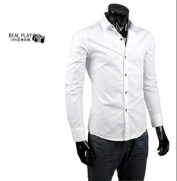 Wholesale 2012 fashion mens shirts long sleeve white dress shirt