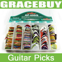 Wholesale 600pcs ALICE Guitar Bass Picks Mixed Plectrums Matte ABS Standar Plectra