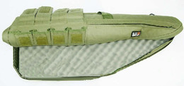 Tactical 1m 100cm Double Pockets carry bag case for slip rifle gun olive green