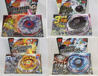 Wholesale 4 Styles Clash Metal D Beyblades Spinning Tops Toys bb124 bb123 bb122 bb126