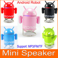 Other google android mini speaker - Google Android Robot MP3 Mini Speaker with TF Card Slot FM Raido with Retail Package box