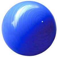 Wholesale Yoga ball fitness ball pilates ball diameter of cm six colors a free foot air pump