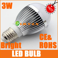 SMD bright color led bulb - New Bright W E27 LED light bulb AC100 V LM white color CE ROHS led bulbs free ship DHL EMS