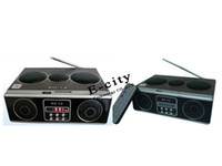 Wholesale Retro Mini Sound box MP3 player Mobile Speaker boombox FM Radio SD Card SU12 Speaker
