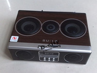 Wholesale Retro Mini Sound box MP3 Music player boombox With FM Radio SU12 Speaker Via Free DHL Shipping