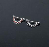 Wholesale Skull Cool Nipple Piercing Rings Nipple Piercing Jewelry Jewelled L SS Mixedlot NPR12