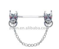 Wholesale Cool Nipple Piercing rings Nipple Piercing Jewelry UV Barbell NPR13