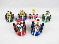 Super Mario Bros. Kart PULL BACK Car Karts Figures Doll Toys...