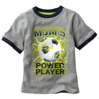 Round Neck baby soccer jerseys - boy tops tees shirts soccer tshirt cotton jerseys jumper baby t shirts singlets blouse outfits LM995
