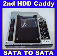 Wholesale SATA nd Hard Disk Drive SSD HDD Caddy Adapter bay For LENOVO IdeaPad Z370 Z460 Series Laptop