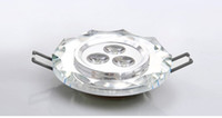 Wholesale 3w V LED spot light top qulity light lamp downlight Crystalline led recessed ceiling lamp A