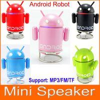 google android mini speaker - Google Android Robot MP3 Mini Speaker with TF Card Slot FM Raido For Smart Phone