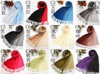 Wholesale women neckerchief Double color scarf Popular elements Warm scarf shawl Sizes cm cm