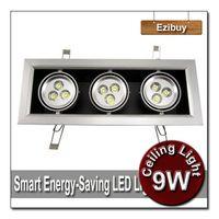1w - 9W W LED Ceiling Light Square Recessed LED Spotlight LED Downlight LED Lamp LED Bulb Energy Saving Good Quality