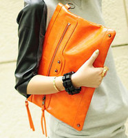 Wholesale 2015 Christmas present Free ship candy clutch bag women s bag the envelope bag orange cluths bags