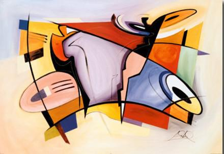 Abstract Art Painting,handcrafts Oil Painting,Celebration by ...